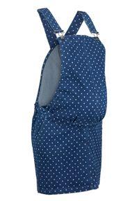 Niebieska sukienka bonprix moda ciążowa, w kropki, na ramiączkach