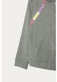 Szara bluza rozpinana Guess Jeans z nadrukiem, casualowa