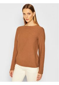 Brązowy sweter klasyczny Marc O'Polo polo