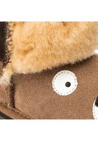 Brązowe buty zimowe EMU Australia z aplikacjami, z cholewką