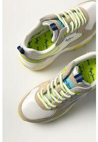 Wielokolorowe buty sportowe Pepe Jeans na średnim obcasie, na sznurówki
