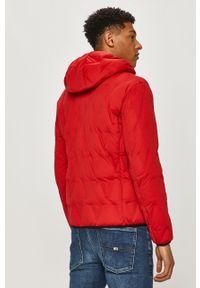 Czerwona kurtka Armani Exchange z kapturem, casualowa