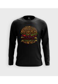 MegaKoszulki - Koszulka męska z dł. rękawem Burger. Materiał: bawełna