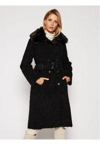 Czarny płaszcz zimowy Patrizia Pepe