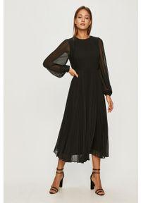 Czarna sukienka Miss Sixty casualowa, z długim rękawem