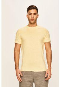 Żółty t-shirt Brave Soul na co dzień, casualowy, gładki