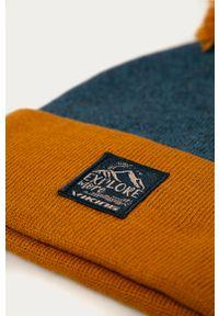 Niebieska czapka Viking z aplikacjami