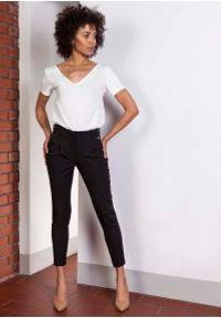 Czarne spodnie z wysokim stanem Lanti z podwyższonym stanem