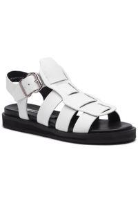 Białe sandały Bronx casualowe, na co dzień