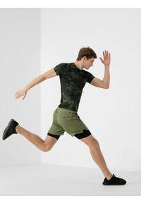 4f - Spodenki treningowe męskie Wilfredo Leon x 4F. Kolor: oliwkowy, brązowy, wielokolorowy. Materiał: włókno, materiał. Wzór: nadruk. Sport: fitness