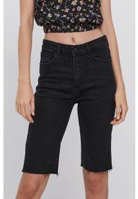 TALLY WEIJL - Tally Weijl - Szorty jeansowe. Okazja: na co dzień. Kolor: czarny. Materiał: jeans. Styl: casual