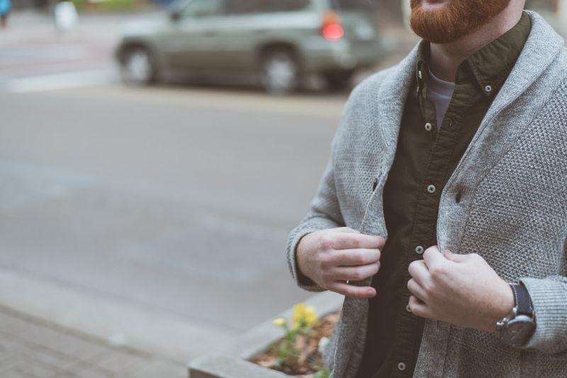 rozpinany sweter męski