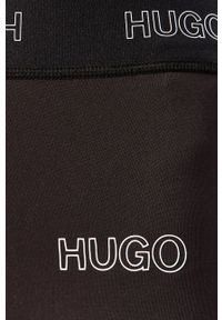 Czarne legginsy Hugo z podwyższonym stanem, gładkie