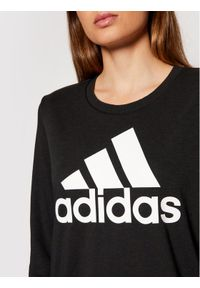 Adidas - adidas Bluza Essentials Logo GM5519 Czarny Relaxed Fit. Kolor: czarny