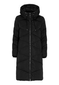 Czarny płaszcz SAKI długi, na zimę