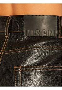 Czarna spódnica jeansowa MSGM