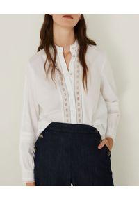 Marella - MARELLA - Biała koszula z koronką Danton. Kolor: biały. Materiał: koronka. Długość rękawa: długi rękaw. Długość: długie. Wzór: koronka. Sezon: wiosna. Styl: klasyczny