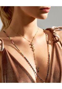 MOKOBELLE - Łańcuszek z kuleczkami i rozetkami Tosca. Kolor: złoty. Wzór: aplikacja