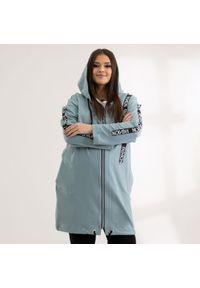 Miętowa bluza Moda Size Plus Iwanek casualowa, do pracy, na wiosnę