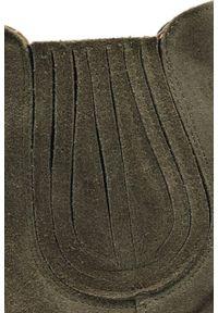 Zielone botki kowbojki Arturo Vicci klasyczne, na wiosnę
