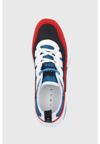 Sisley - Buty. Nosek buta: okrągły. Zapięcie: sznurówki. Kolor: czerwony. Materiał: guma