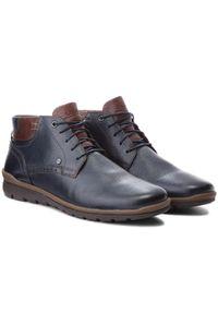 Niebieskie buty zimowe Lasocki For Men na co dzień, z cholewką