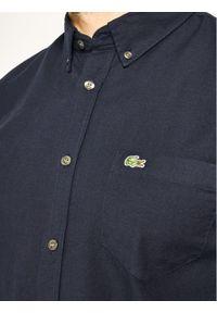 Lacoste Koszula CH4975 Granatowy Regular Fit. Kolor: niebieski