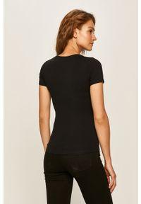Czarna bluzka Pepe Jeans casualowa, z nadrukiem