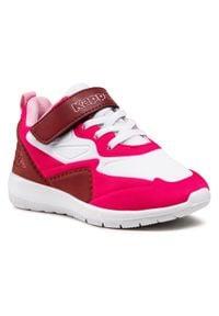 Kappa - Sneakersy KAPPA - Durban Pr K 260894PRK White/Pink 1022. Okazja: na spacer. Zapięcie: rzepy. Kolor: biały. Materiał: skóra, materiał. Szerokość cholewki: normalna