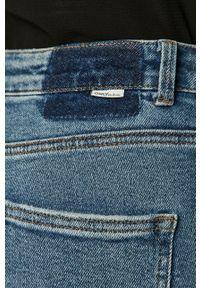 Niebieskie proste jeansy only w kolorowe wzory
