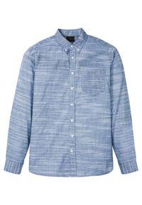 Niebieska koszula bonprix button down, melanż