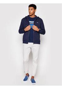 Lee Bluza Basic L80KSP35 Granatowy Regular Fit. Kolor: niebieski