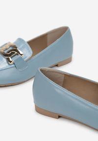 Renee - Niebieskie Mokasyny Dema. Kolor: niebieski