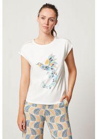 Kremowa piżama Etam z nadrukiem