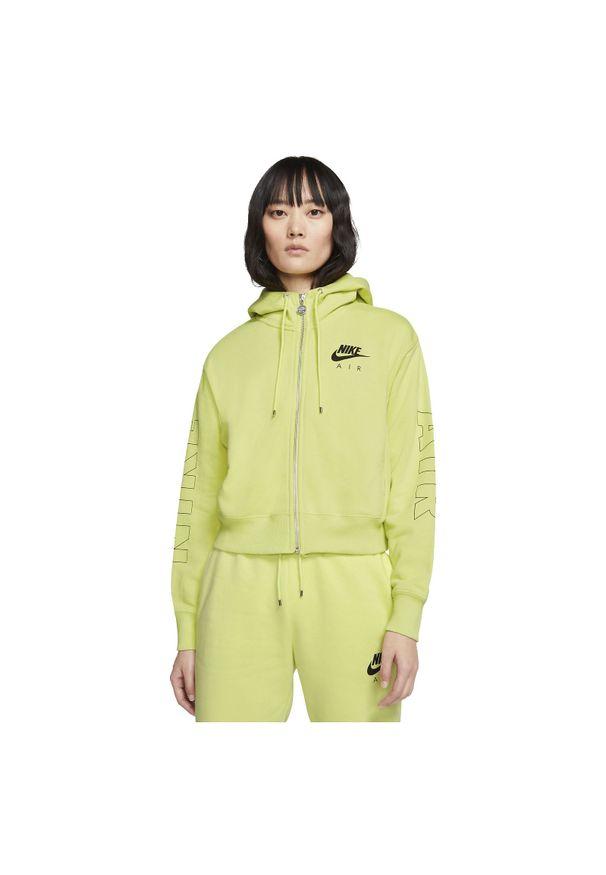Bluza damska Nike Air CJ3041. Materiał: tkanina. Długość rękawa: raglanowy rękaw. Długość: krótkie