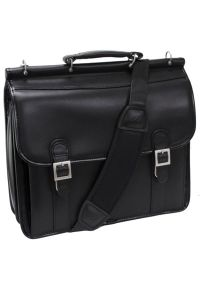 Torba na laptopa MCKLEIN Halsted 15.6 cali Czarny. Kolor: czarny. Styl: elegancki #1