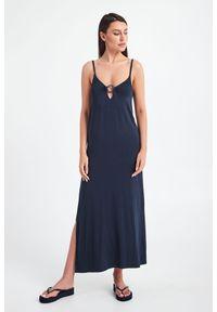 Emporio Armani Swimwear - SUKIENKA EMPORIO ARMANI SWIMWEAR. Długość rękawa: na ramiączkach. Typ sukienki: proste. Długość: maxi
