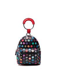 Nobo - Plecak NOBO - NBAG-K1570-CM05 Czarny Kolorowy. Kolor: czarny. Materiał: skóra. Wzór: kolorowy