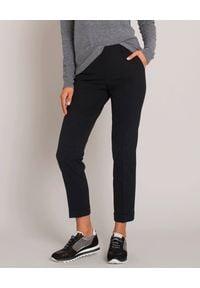 CAPPELLINI - Czarne spodnie z mankietem. Kolor: czarny. Materiał: materiał. Sezon: jesień