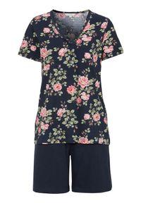 Niebieska piżama Cellbes krótka, w kwiaty