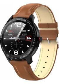 Brązowy zegarek oromed smartwatch