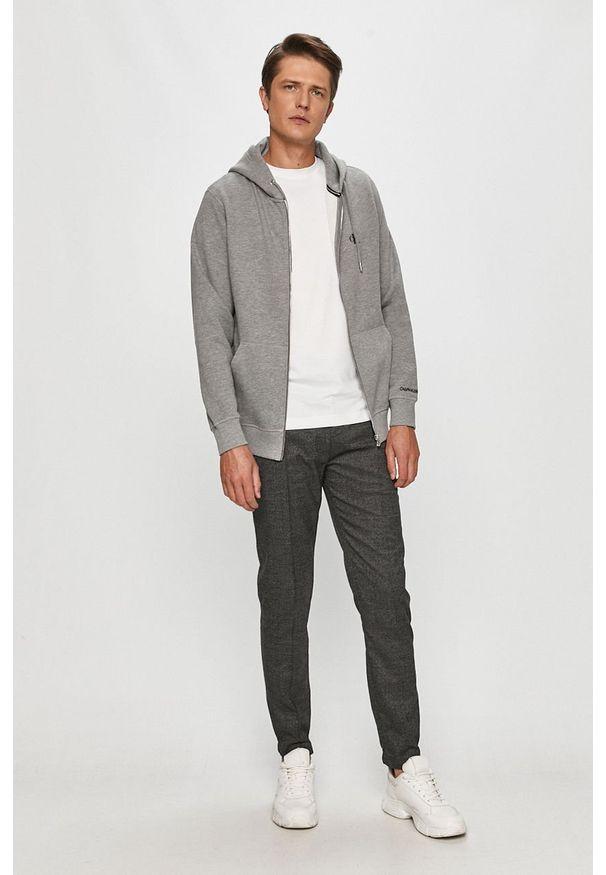 Szara bluza rozpinana Calvin Klein Jeans casualowa, na co dzień