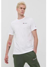 Champion - T-shirt bawełniany. Okazja: na co dzień. Kolor: biały. Materiał: bawełna. Wzór: gładki. Styl: casual