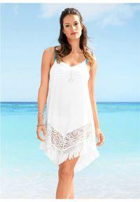 Sukienka plażowa bonprix biały. Okazja: na plażę. Kolor: biały
