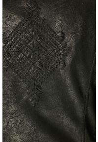 Czarna kurtka Desigual bez kaptura, na co dzień, casualowa, gładkie