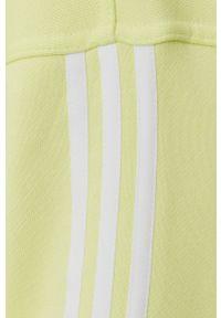 adidas Originals - Bluza bawełniana. Typ kołnierza: kaptur. Kolor: żółty. Materiał: bawełna