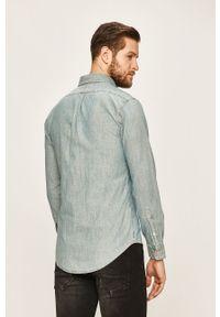 Niebieska koszula Polo Ralph Lauren na co dzień, długa, polo, casualowa