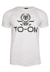Biały t-shirt TO-ON na co dzień, z krótkim rękawem