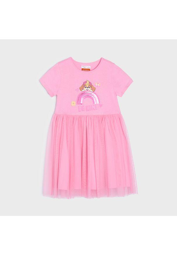 Sinsay - Sukienka Psi Patrol - Różowy. Kolor: różowy