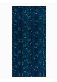 Ombre Clothing - Komin męski A400 - niebieski - uniwersalny. Kolor: niebieski. Materiał: poliester